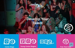 Centre Stage UK - Performing Arts stage school web design by Toolkit Websites, professional web designers