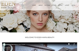 Eden - Hair & Beauty website design by Toolkit Websites, professional web designers