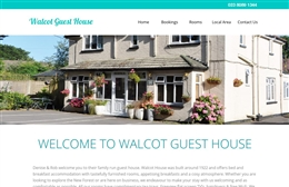 Walcot Guest House - bed and breakfast website design by Toolkit Websites, professional web designers