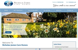 Nicholas James Care Homes - Care Home website design by Toolkit Websites, professional web designers
