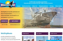 We Ship Boats - Marine website design by Toolkit Websites, professional web designers