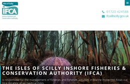 Scilly IFCA - website design by Toolkit Websites, professional web designers