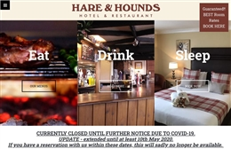 Hare & Hounds - Hotel website design by Toolkit Websites, professional web designers