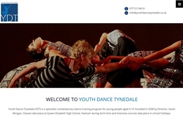 Youth Dance Tynedale - dance company web design by Toolkit Websites, professional web designers