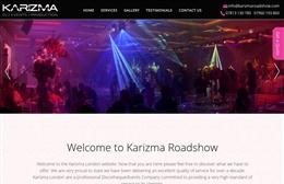 Karizma - Events company website design by Toolkit Websites, professional web designers