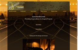 Junction Sounds - Production web design by Toolkit Websites, professional web designers