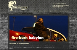 Alchemy Films - Production company website design by Toolkit Websites, professional web designers