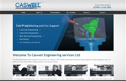 Caswell Engineering - CNC website design by Toolkit Websites, professional web designers