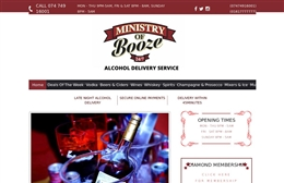 Ministry of Boose - retail website design by Toolkit Websites, professional web designers