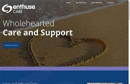 Enthuse Care - Nursing website design by Toolkit Websites, professional web designers