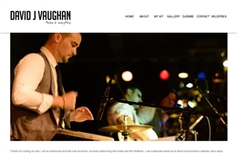 David Vaughan - Percussionist web design by Toolkit Websites, professional web designers