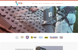 Professional Coating Services - Commercial painting company website design by Toolkit Websites, professional web designers