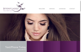 Beyond Lashes - website design by Toolkit Websites, professional web designers