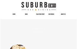 Suburb SW11 - bar and restaurant web design by Toolkit Websites, professional web designers