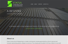 Status Construction - website design by Toolkit Websites, professional web designers