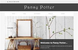 Pansy Potter - website design by Toolkit Websites, professional web designers