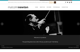 Malcolm Newton - web design by Toolkit Websites, professional web designers