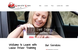 Learn With Louise - Driving training website design by Toolkit Websites, professional web designers