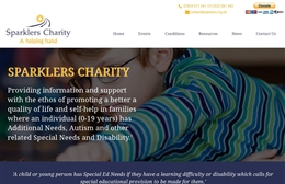 Sparklers - Charity web design by Toolkit Websites, professional web designers
