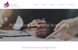 Lilac Accounting Services - Financial website design by Toolkit Websites, professional web designers