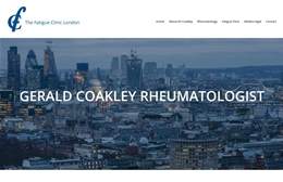 The Fatigue Clinic London - Medical website design by Toolkit Websites, professional web designers