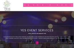Yes Event Services - website design by Toolkit Websites, professional web designers