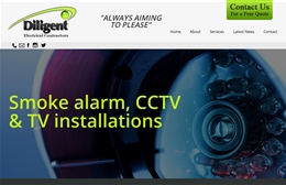 Diligent Electrical Contractors - Electrical contractors website design by Toolkit Websites, professional web designers