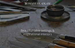 Romany Headlam Ltd - Interior design website by Toolkit Websites, professional web designers