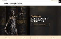 Louis Kennedy Solicitors - Solicitors web design by Toolkit Websites, professional web designers
