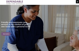 Dependable Home Care Services - Care Home website design by Toolkit Websites, professional web designers