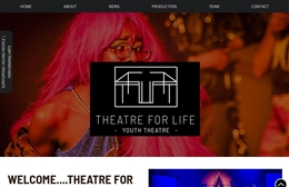 Theatre For Life - Life Youth Theatre company web design by Toolkit Websites, professional web designers