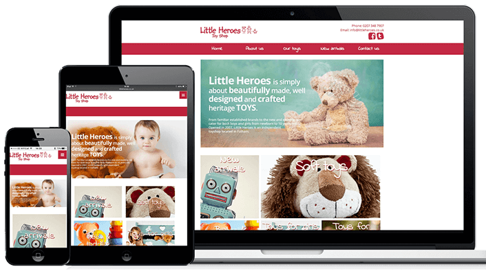 Bespoke web design examples from our expert website designers